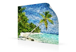 photo mosaic poster beach small